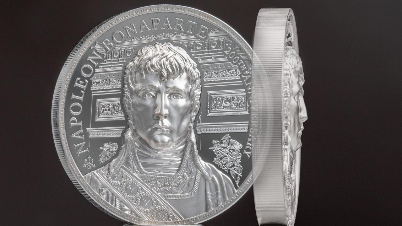 (W191.2.P.2021.29563) 2 Pounds Napoleon Bonaparte 2021 - Proof silver (relief) (zoom)