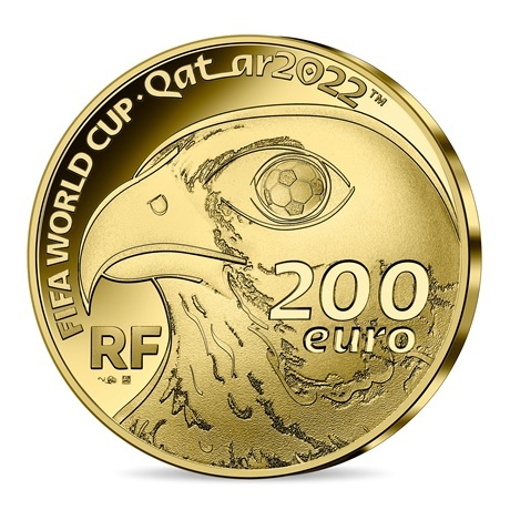(EUR07.Proof.2021.10041355810001) 200 euro France 2021 or BE - Coupe du monde football Qatar Avers