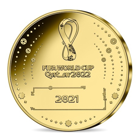(EUR07.Proof.2021.10041355810001) 200 euro France 2021 or BE - Coupe du monde football Qatar Revers