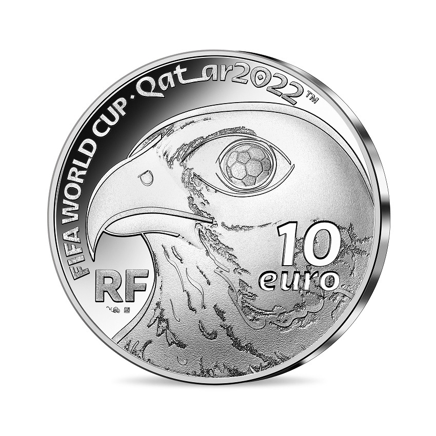 (EUR07.Proof.2021.10041355830000) 10 euro France 2021 Proof silver - FIFA World Cup Qatar Obverse (zoom)