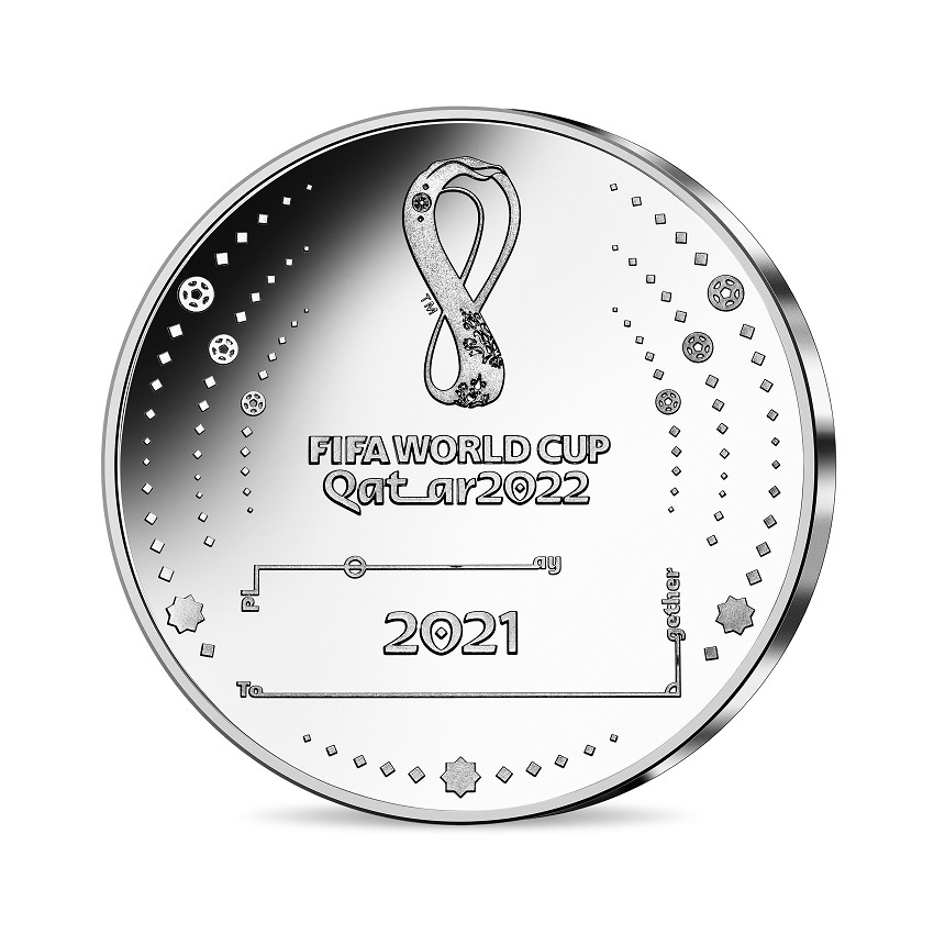 (EUR07.Proof.2021.10041355830000) 10 euro France 2021 Proof silver - FIFA World Cup Qatar Reverse (zoom)