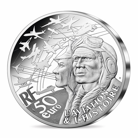 (EUR07.Proof.2021.10041355880000) 50 euro France 2021 argent BE - P-51 Mustang Avers