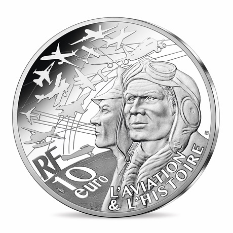 (EUR07.Proof.2021.10041355900000) 10 euro France 2021 argent BE - P-51 Mustang Avers