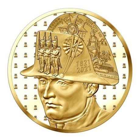 (EUR07.Proof.2021.10041359480000) 5 euro France 2021 or BE - Napoléon Avers