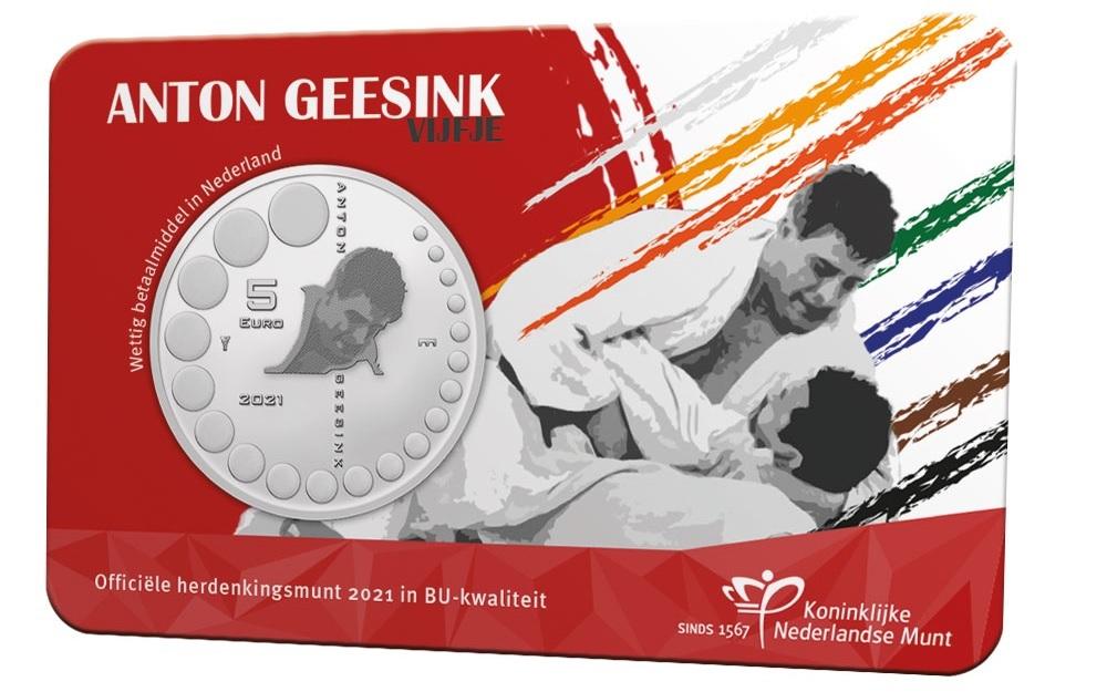 (EUR14.BU.2021.0111002) 5 euro Netherlands 2021 BU - Anton Geesink Front (zoom)