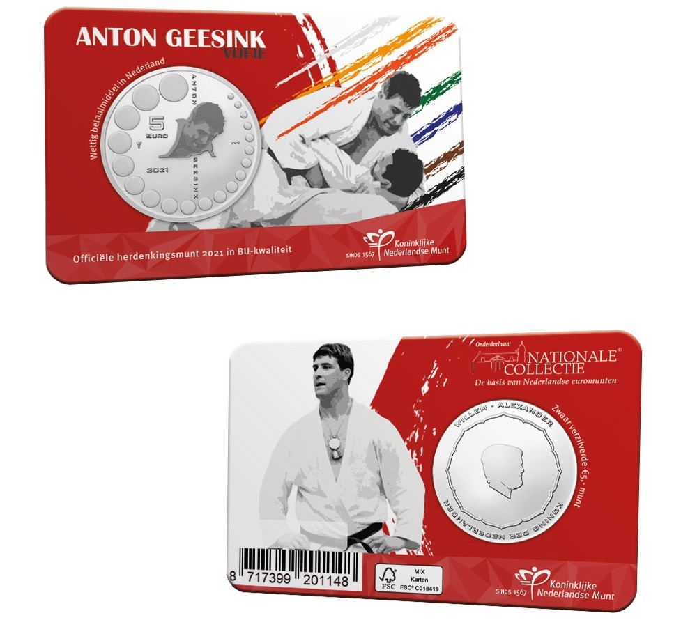 (EUR14.BU.2021.0111002) 5 euro Netherlands 2021 BU - Anton Geesink (coincard) (zoom)