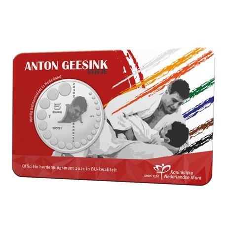 (EUR14.BU.2021.0111002) 5 euro Pays-Bas 2021 BU - Anton Geesink Recto