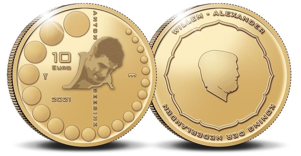 (EUR14.Proof.2021.0110995) 10 euro Netherlands 2021 Proof Au - Anton Geesink (zoom)