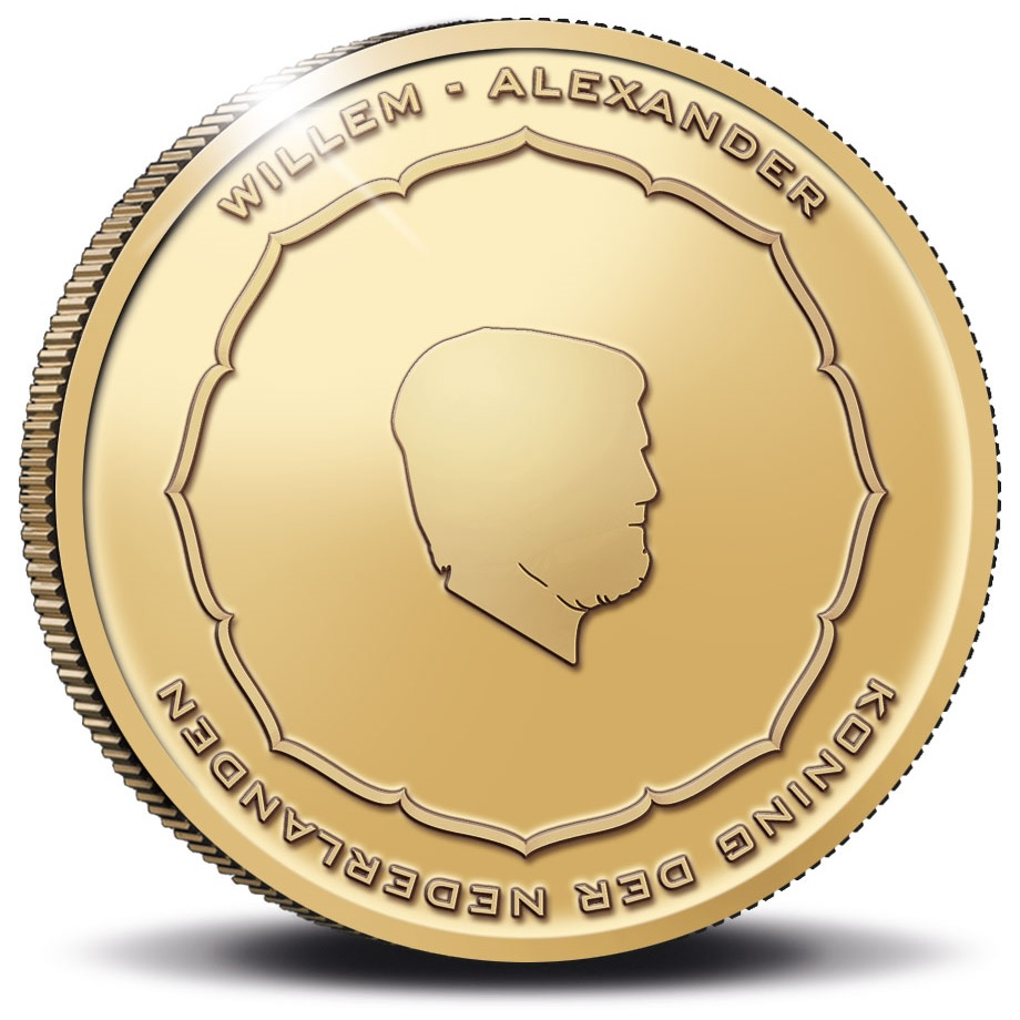 (EUR14.Proof.2021.0110995) 10 euro Netherlands 2021 Proof gold - Anton Geesink Obverse (zoom)