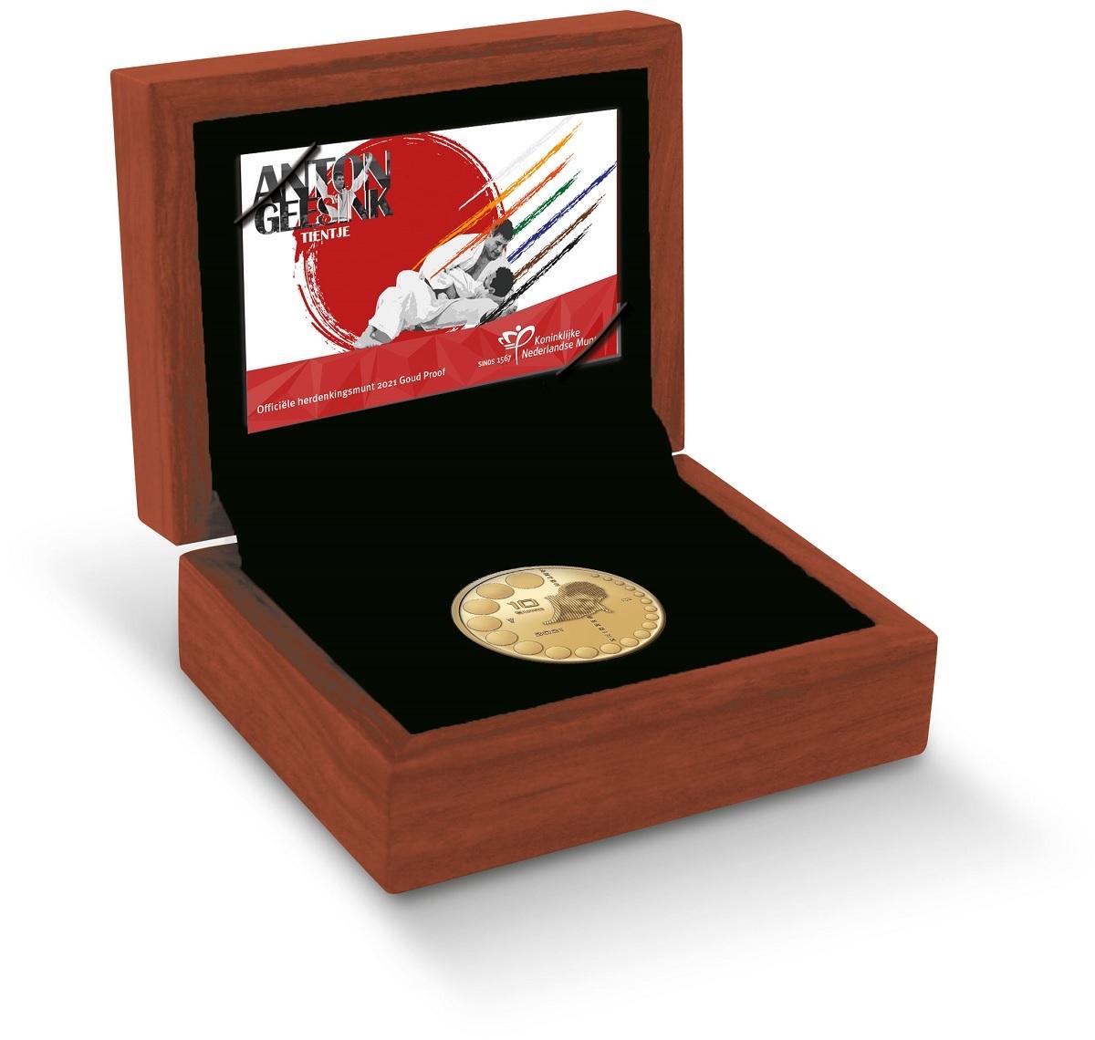 (EUR14.Proof.2021.0110995) 10 euro Netherlands 2021 Proof gold - Anton Geesink (case) (zoom)