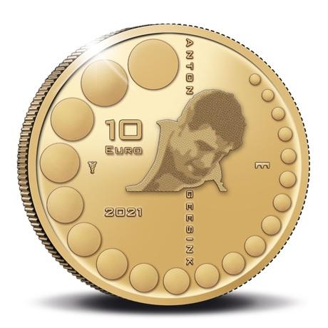 (EUR14.Proof.2021.0110995) 10 euro Pays-Bas 2021 or BE - Anton Geesink Revers