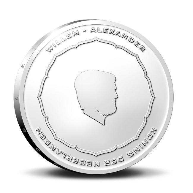 (EUR14.Proof.2021.0111000) 5 euro Netherlands 2021 Proof silver - Anton Geesink Obverse (zoom)