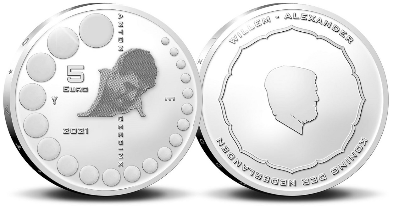 (EUR14.Proof.2021.0111000) 5 euro Netherlands 2021 Proof silver - Anton Geesink (zoom)