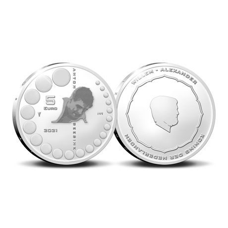 (EUR14.Proof.2021.0111000) 5 euro Pays-Bas 2021 argent BE - Anton Geesink