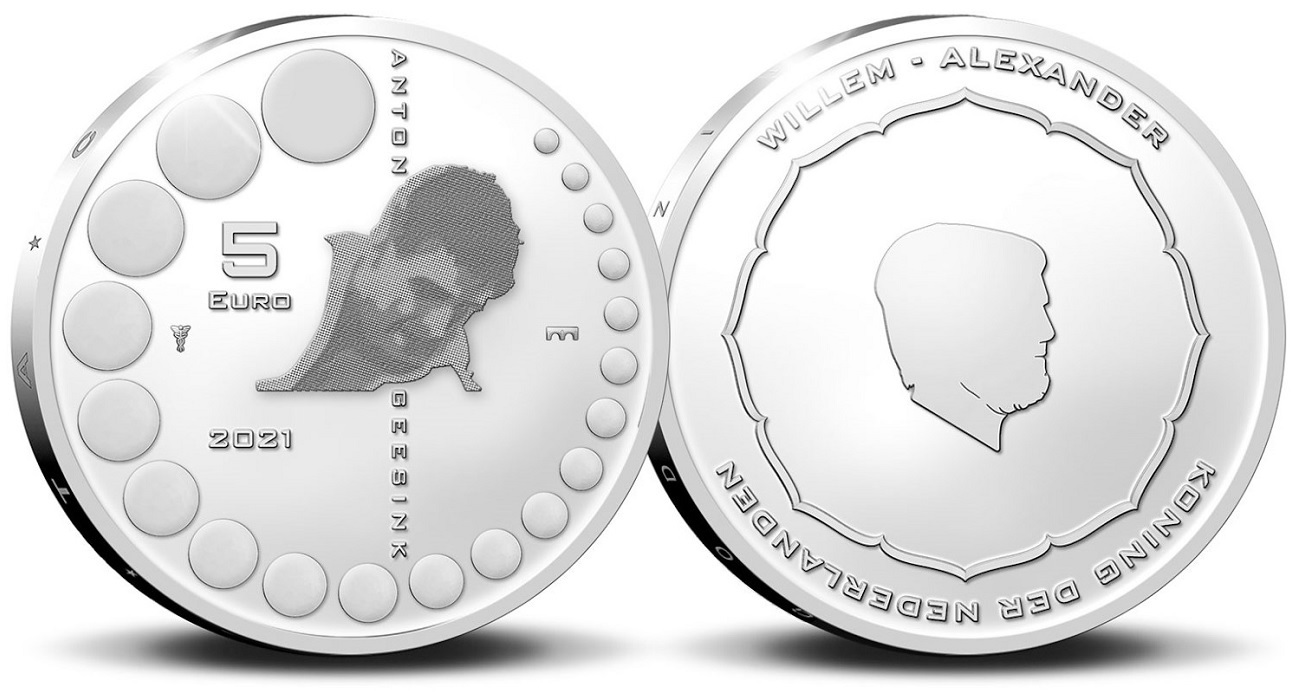 (EUR14.Proof.2021.0111545) Diptych Netherlands 2021 Proof silver - Anton Geesink (5 euro) (zoom)