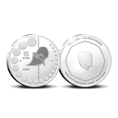 (EUR14.Proof.2021.0111545) Diptyque Pays-Bas 2021 argent BE - Anton Geesink (5 euro)