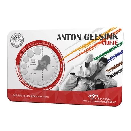 (EUR14.Unc.2021.0111004) 5 € Pays-Bas 2021 UNC - Anton Geesink (pochette Premier Jour) Recto