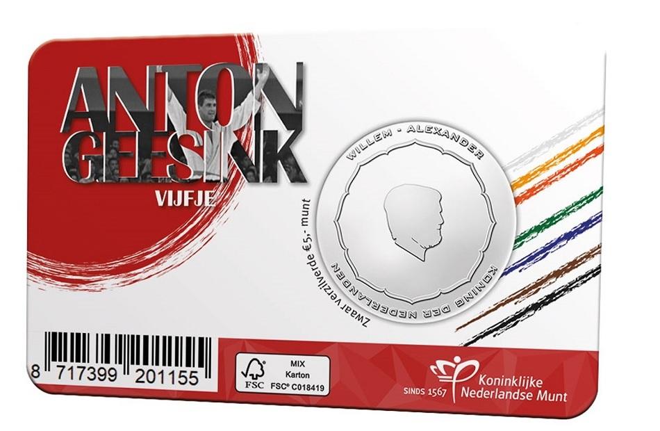 (EUR14.Unc.2021.0111005) 5 euro Netherlands 2021 UNC - Anton Geesink Back (zoom)
