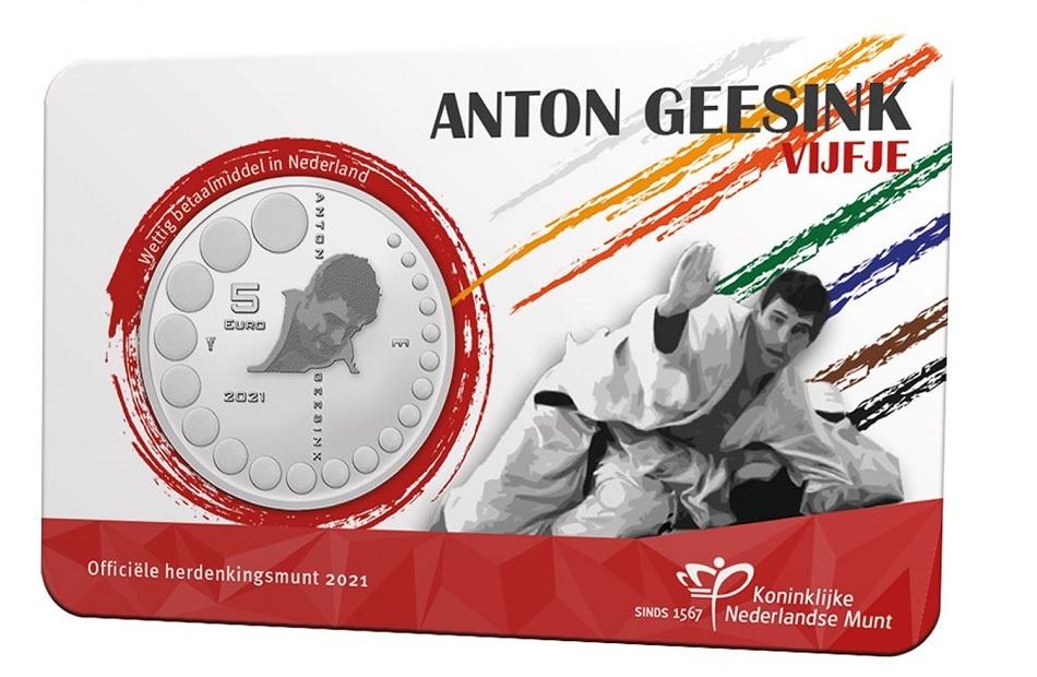 (EUR14.Unc.2021.0111005) 5 euro Netherlands 2021 UNC - Anton Geesink Front (zoom)