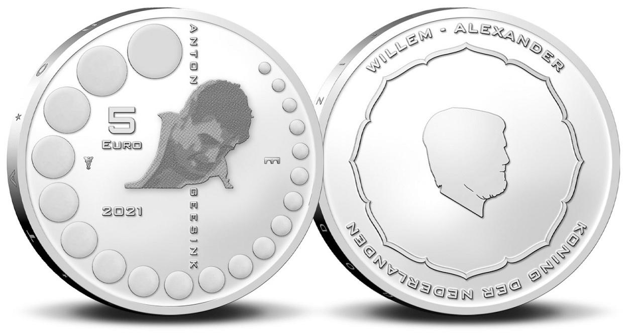 (EUR14.Unc.2021.0111005) 5 euro Netherlands 2021 UNC - Anton Geesink (zoom)