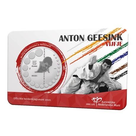 (EUR14.Unc.2021.0111005) 5 euro Pays-Bas 2021 UNC - Anton Geesink Recto