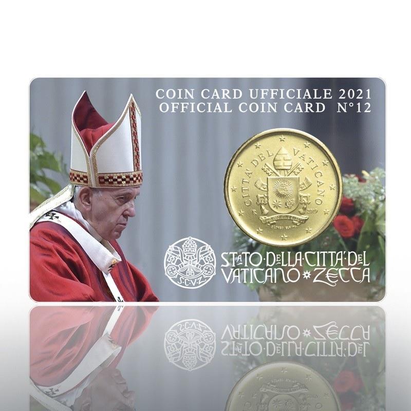 (EUR19.Card.2021.CN1573) Coincard 50 cent Vatican 2021 BU Front (zoom)
