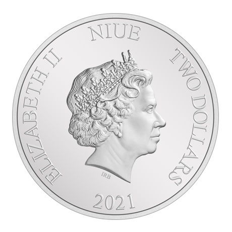 (W160.2.D.2021.30-01054) 2 Dollars Niue 2021 1 once argent BE - Anakin Skywalker Avers