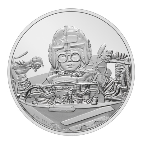 (W160.2.D.2021.30-01054) 2 Dollars Niue 2021 1 once argent BE - Anakin Skywalker Revers