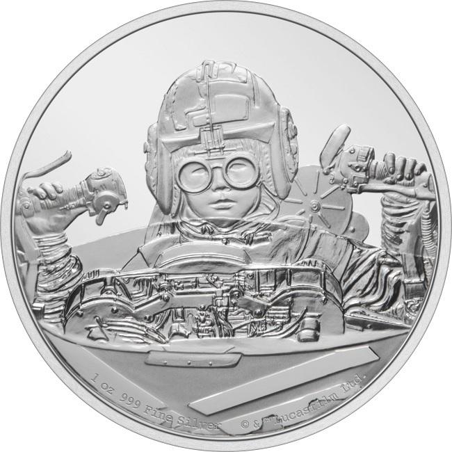 (W160.2.D.2021.30-01054) 2 Dollars Niue 2021 1 oz Proof silver - Anakin Skywalker Reverse (zoom)