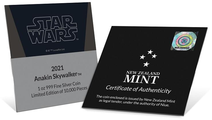 (W160.2.D.2021.30-01054) 2 $ Niue 2021 1 ounce Proof Ag - Anakin Skywalker (certificate) (zoom)