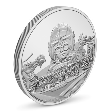 (W160.2.D.2021.30-01054) 2 $ Niue 2021 1 oz Ag BE - Anakin Skywalker (vue sur revers)