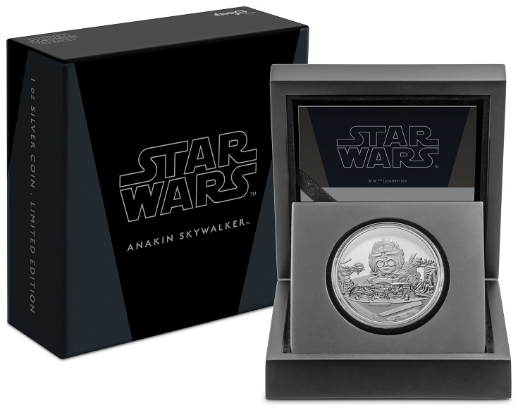 (W160.2.D.2021.30-01054) 2 $ Niue 2021 1 oz Proof Ag - Anakin Skywalker (case and box) (zoom)