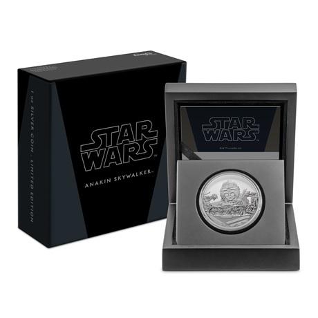(W160.2.D.2021.30-01054) 2 $ Niue 2021 1 oz argent BE - Anakin Skywalker (boîte et écrin)