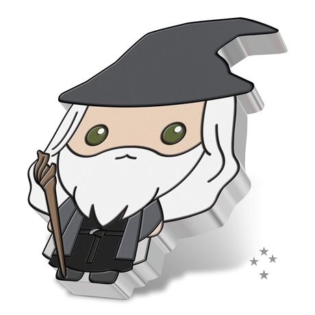 (W160.2.D.2021.30-01070) 2 Dollars Niue 2021 1 once argent BE - Chibi Gandalf (tranche)