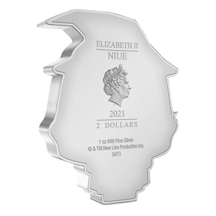 (W160.2.D.2021.30-01070) 2 Dollars Niue 2021 1 oz Proof silver - Chibi Gandalf the Grey Obverse (zoom)