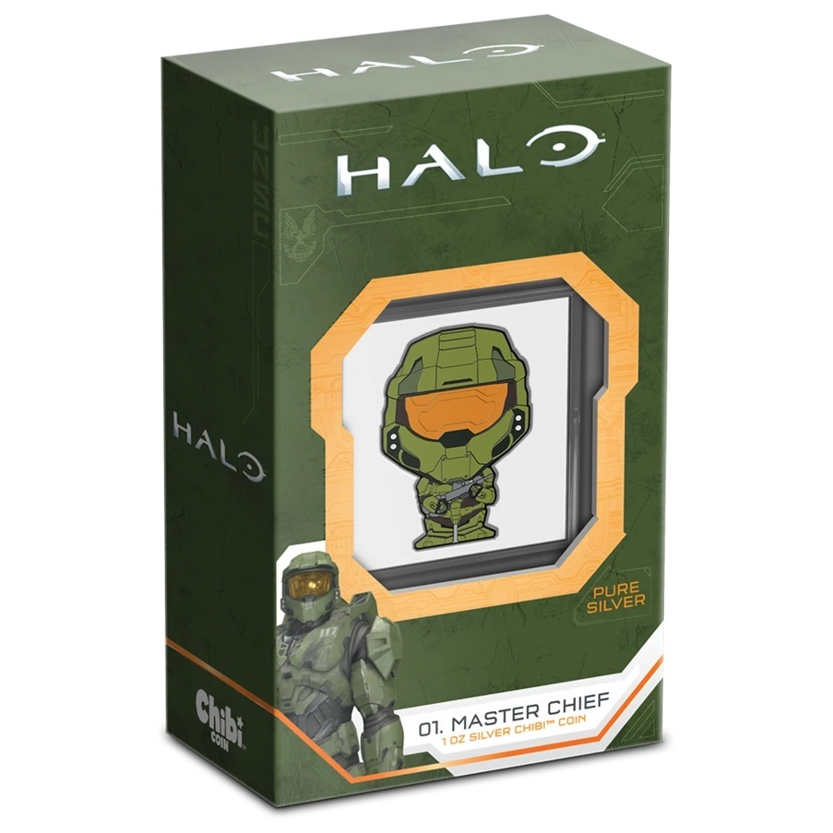 (W160.2.D.2021.30-01081) 2 $ Niue 2021 1 oz Proof silver - Chibi Master Chief (packaging) (zoom)