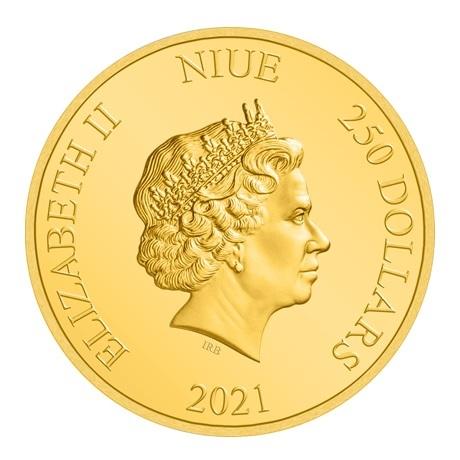(W160.250.D.2021.30-01056) 250 Dollars Niue 2021 1 once or BE - Anakin Skywalker Avers