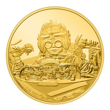 (W160.250.D.2021.30-01056) 250 Dollars Niue 2021 1 once or BE - Anakin Skywalker Revers