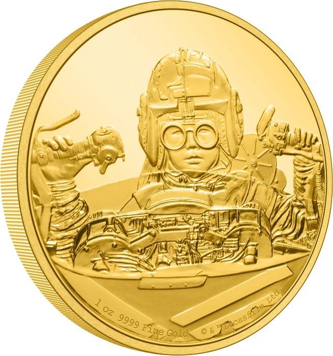 (W160.250.D.2021.30-01056) 250 Dollars Niue 2021 1 oz Proof Au - Anakin Skywalker (edge) (zoom)