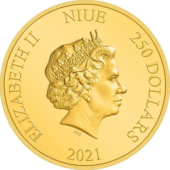 (W160.250.D.2021.30-01056) 250 Dollars Niue 2021 1 oz Proof gold - Anakin Skywalker Obverse (zoom)