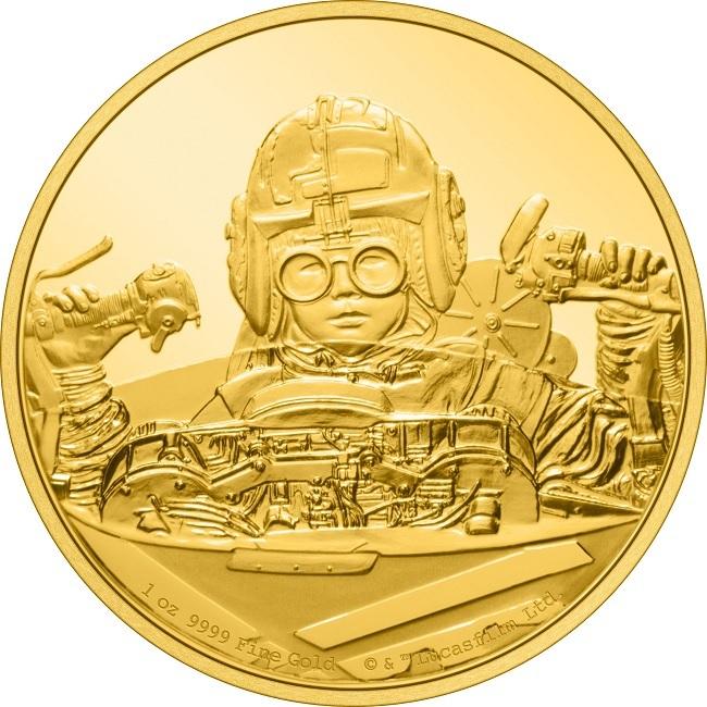 (W160.250.D.2021.30-01056) 250 Dollars Niue 2021 1 oz Proof gold - Anakin Skywalker Reverse (zoom)