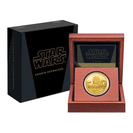 (W160.250.D.2021.30-01056) 250 $ Niue 2021 1 once or BE - Anakin Skywalker (écrin et boîte)