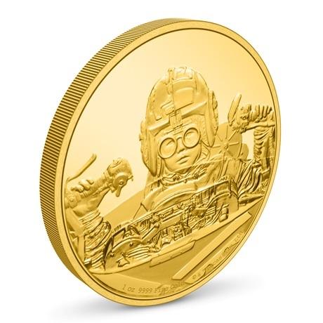 (W160.250.D.2021.30-01056) 250 $ Niue 2021 1 oz or BE - Anakin Skywalker (vue sur revers)