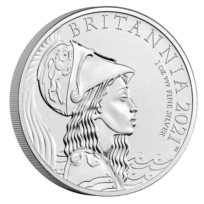 (W185.2.P.2021.BR21AGN) 2 Pounds United Kingdom 2021 1 oz BU silver - Britannia Reverse (zoom)