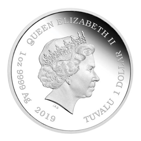(W228.1.1.D.2019.19D43AAA) 1 Dollar Tuvalu 2019 1 once argent BE - Homer Avers