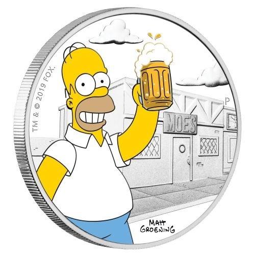 (W228.1.1.D.2019.19D43AAA) 1 Dollar Tuvalu 2019 1 oz Proof silver - Homer Simpson Reverse (zoom)