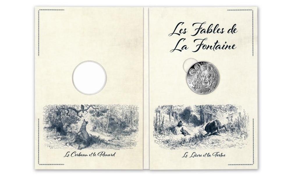 (EUR07.10.E.2021.10041355200005) 10 € France 2021 Ag - Jean de La Fontaine (packaging) (zoom)