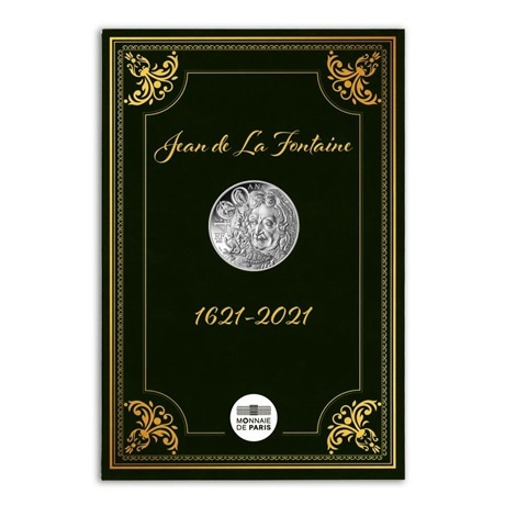 (EUR07.10.E.2021.10041355200005) 10 euro France 2021 Ag - Jean de La Fontaine Recto