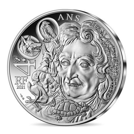 (EUR07.10.E.2021.10041355200005) 10 euro France 2021 argent - Jean de La Fontaine Avers