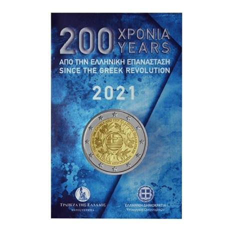 (EUR08.BU.2021.2.E.1) 2 euro commémorative Grèce 2021 BU - Révolution grecque Recto